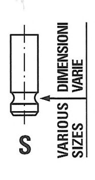 Клапан випускний CHEVROLET/DAEWOO R6463/RCR EX Freccia R6463RCR