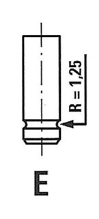 Клапан випускний DAEWOO 6095/RCR EX Freccia R6095RCR